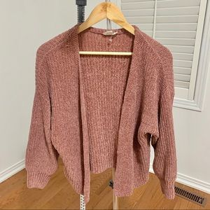 🌻2/$22 Mauve Dusty Pink Open Knit Cardigan